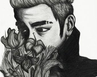 TOP (Big Bang) Portrait - Pencil