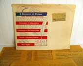 Vintage Historic Gettysburg Souvenir Documents Set of 4 in Original Envelope - Authentic Reproductions on Antiqued Parchment Look & Feel Old