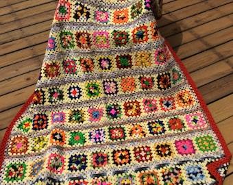 Vintage granny squares afghan fall photograpghy wedding decor