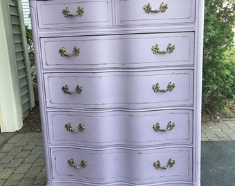 Vintage Lavender Chest of Drawers