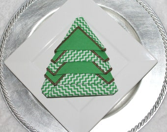 Christmas Napkins/Christmas Cloth Napkins/Christmas Tree Napkins/Holiday Napkins/18 Inch Square Napkins/Holiday Linens/Eco Friendly