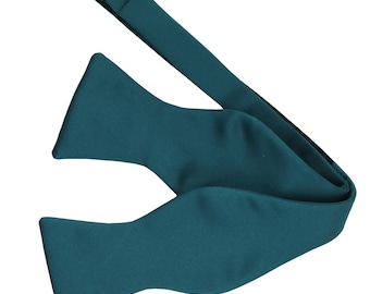 Men's Solid Sapphire Blue Self-Tie Bowtie, for Formal Occasions