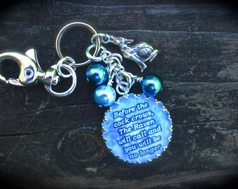 Call Of The Raven - The Union Series - Shawn Reilly - Themed Keychain - Purse Jewelry - Zipper Pull - Urban Fantasy - Literary Bag Charm