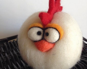 Custom Needle Felted Micro Easter or Anytime Chicken Rooster
