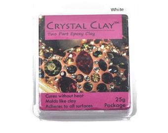 25g Crystal Clay Epoxy Clay - WHITE, cla0002