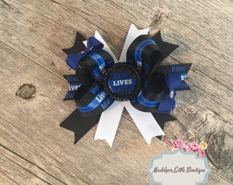 Blue Lives Matter all Lives Matter Hair Bow