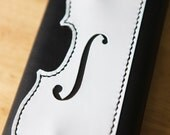 RESERVED for Casenave - Violin Long Wallet, tooled veg tanned and oil tanned leather, hand sewn, made in the usa