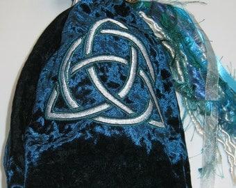 Large Tarot Bag - Triskele Blue
