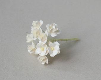 15  mm /  12  Cream  Paper  Flowers