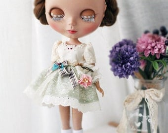 Sweet Bella Dress - for Blythe, MocaPinoRu, Mary&Ann - doll outfit - by kreamdoll