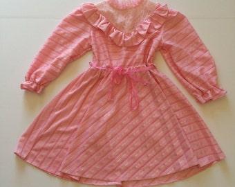 1970's Shimmering Pink Jane Darling Dress (6x)