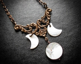 The Triple Moon Goddess Necklace
