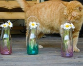 Set of 3 Ombre Multicolored Hanging Vases Bohemian Party Wedding Decorations