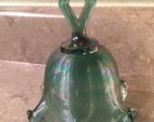 15 % OFF-Fenton Green Iridescent Bell Collector