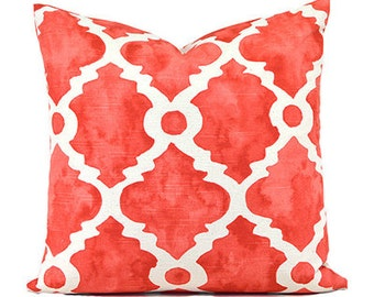 Throw Pillow Cover  Coral