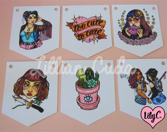 SALE Bad Babes DIY Bunting Kit