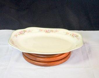 Vintage Steubenville Porcelain Platter, ceramic serving dish / plate