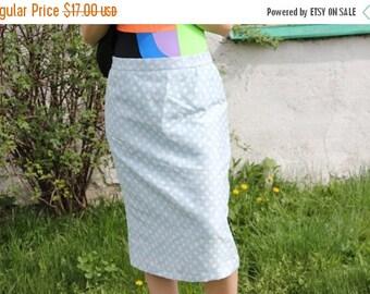 SALE Light Blue Mod Tube Skirt/Mid Skirt