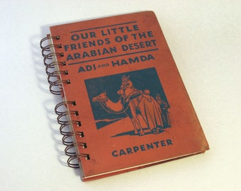1934 ARABIA TRAVEL Handmade Journal Vintage Upcycled Book Travel Middle East Journal