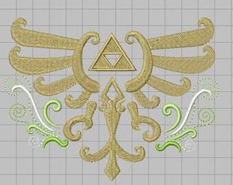 Zelda Embellished Crest Machine Embroidery design