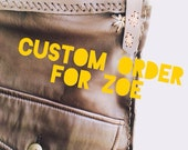 Custom order for ZOE {recycled leather Frankie satchel}