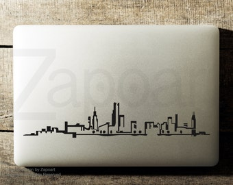 Chicago Skyline Sticker Decal Laptop Decal iPad