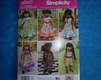 simplicity 8070, 18 inch doll clothes.