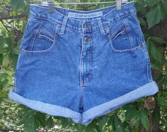 90s Vintage High Waisted Zena Mom Jean Shorts Size 10 High Waist Shorts