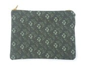 Grey Jasmine Floral Pattern Canvas Bag