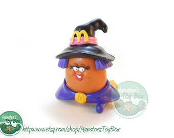 """McDonalds Halloween McNugget Buddy Witch """"Witchie"""" 1990s Toy"""