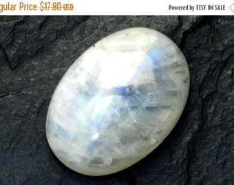 On sale Rainbow Moonstone Cabochon Stone (25mm x 18mm x 7mm) 26cts - Oval Cabochon