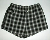 PENNEYS vintage mens swim trunks / bathing suit size XL 40- 42 waist , plaid