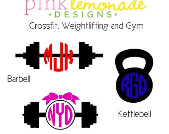 Crossfit Monogram decal, Weightlifting Monogram Vinyl Decal, Kettlebell Monogram Decal, YETI decal