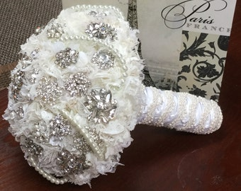 Lace Rhinestone and Pearl Forever Bouquet