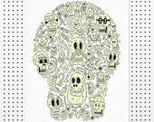 Skulloween - Giclée Print by Tim Easley
