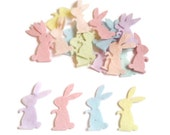 Felt bunny rabbit easter die cut felt shapes pre cut felt animal arts and crafts easter