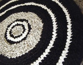 Black and White Accent Rug