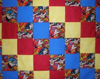 Wonder Woman Patchwork Quilt