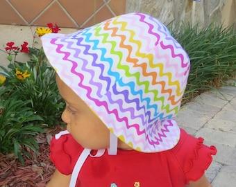 Zigzag Rainbow Sun Hat