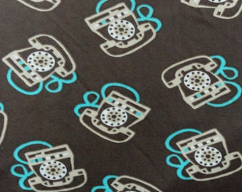 Polyester Stretch Knit Fabric - 5 Yards (just shy) - Telephones