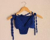 RESERVED-Vintage Handmade Helena Crochet Bikini