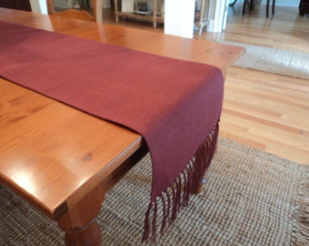 Burgundy Table Runner with Fringe Burgundy Burlap Table Runner Fall Table Runner Christmas Table Settings Rustic Chic Home Decor