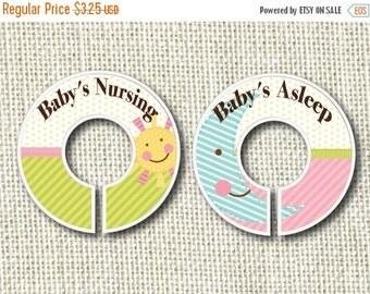 15% OFF SALE Baby's Asleep / Baby's Nursing Door Hanger