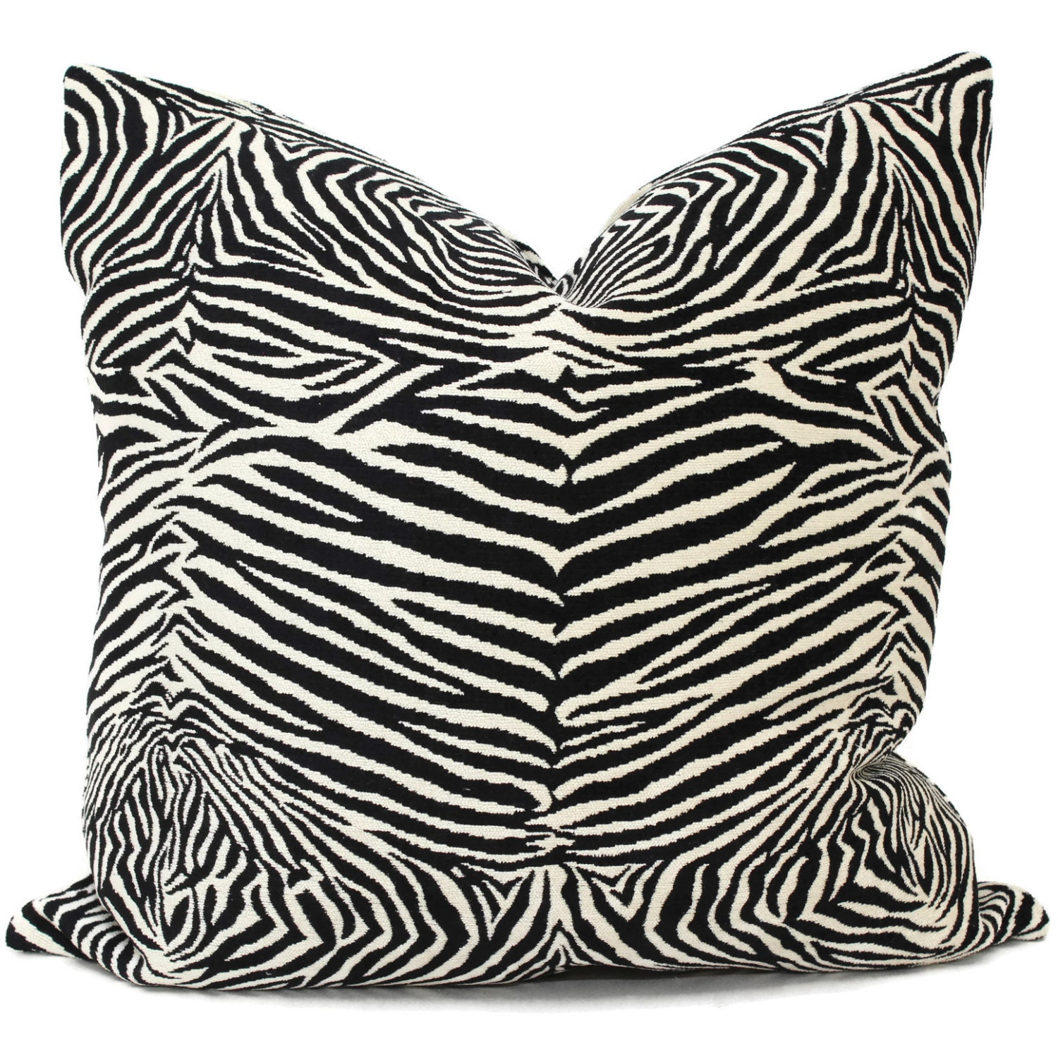 Zebra Decorative Pillows : Decorative Zebra Pillow Cover Square Eurosham 20x20 Accent