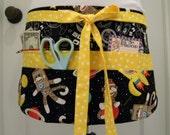 Teacher Crafter Vendor Utility Apron-Sock Monkeys in Space