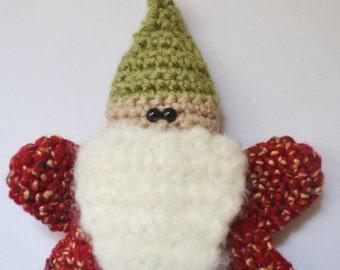 Gnome Santa Ornament Christmas Holiday Gift Christmas Tree MADE TO ORDER