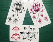 Lotus Temporary Tattoos