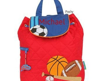 Personalized Boys Diaper Bag or Backpack Stephen Joseph Sports