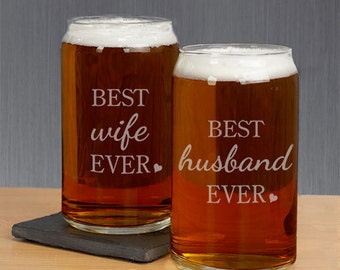 Personalized Best Ever Beer Glass -gfyL9937118