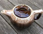 Brown Drip McCoy Teapot